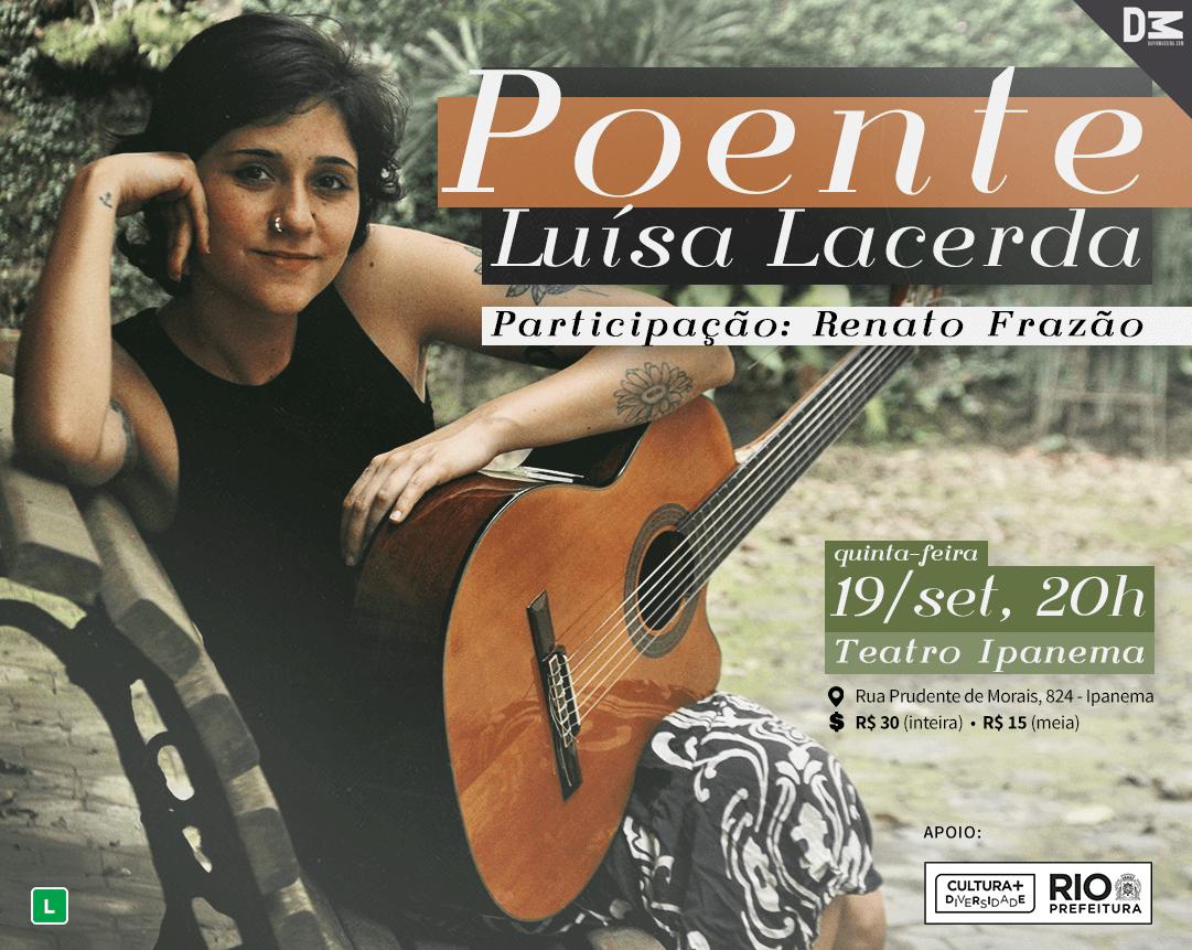 Luísa Lacerda no Teatro Ipanema