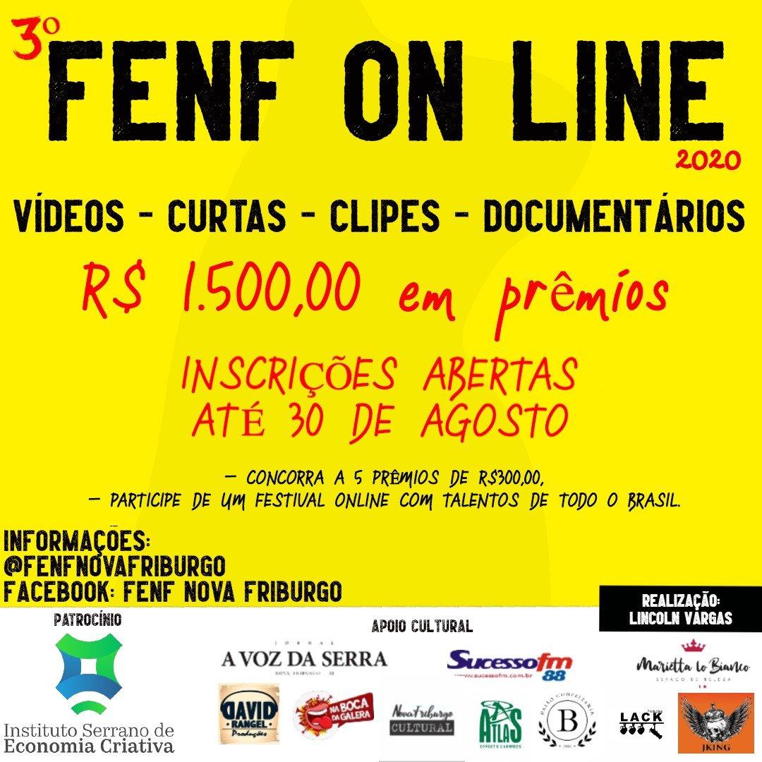 Festival on-line de talentos – É a FENF 2020 em novo formato