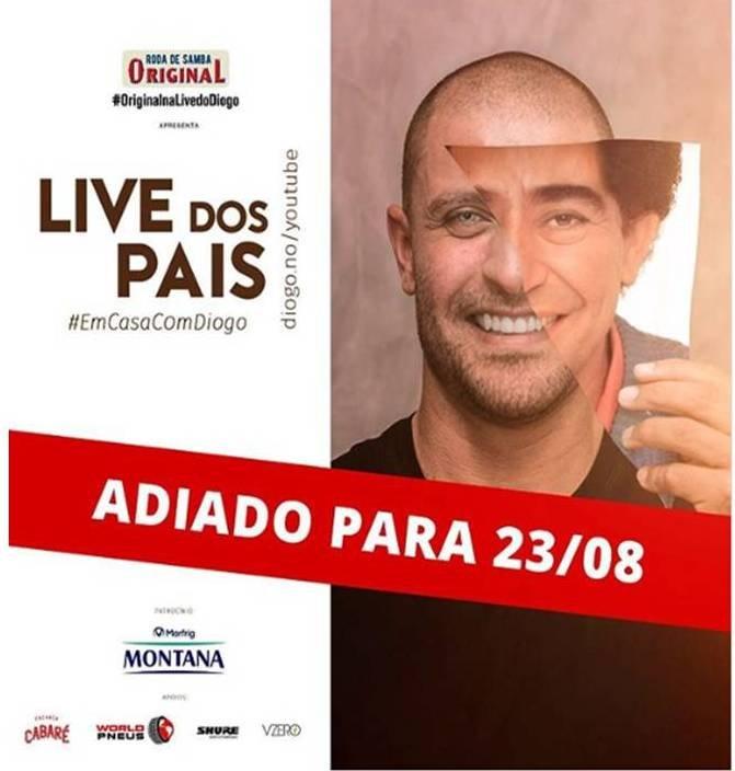 O cantor Diogo Nogueira, com suspeita da covid – 19, adia live do Dia dos Pais