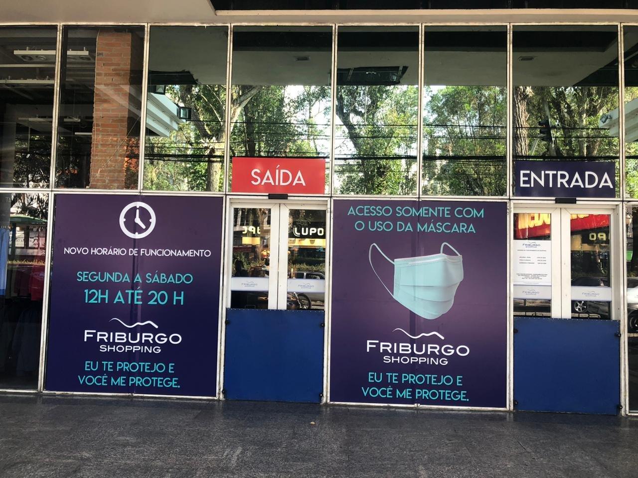 Friburgo Shopping reabre com todos os cuidados necessários e comunicação educativa
