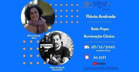 A luz de Flávio Andrade no Cia. Arteira Convida