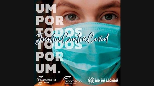 Fecomércio RJ lidera campanha de conscientização e combate à Covid-19