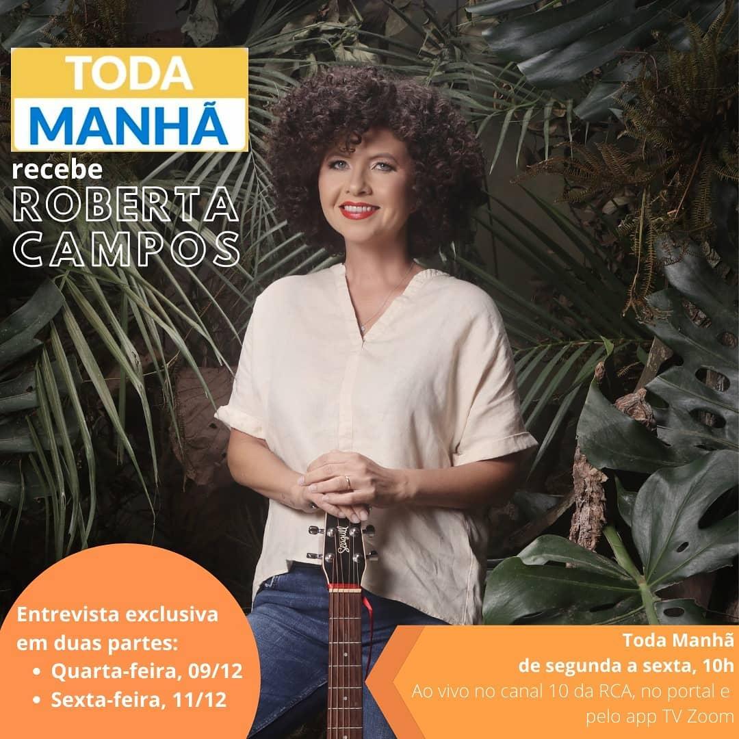 Cantora e compositora, Roberta Campos é a entrevistada de Marcelo Iezzi